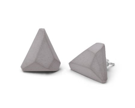 GEM - Concrete earrings - gray