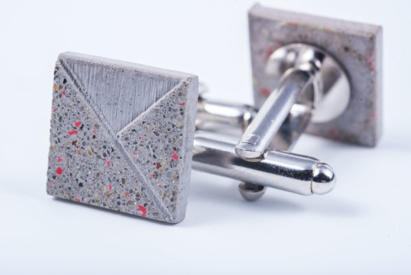 Elegant designer cufflink gray