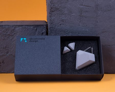 Designer concrete jewel set with luxury cardboard giftbox perfect gift for her