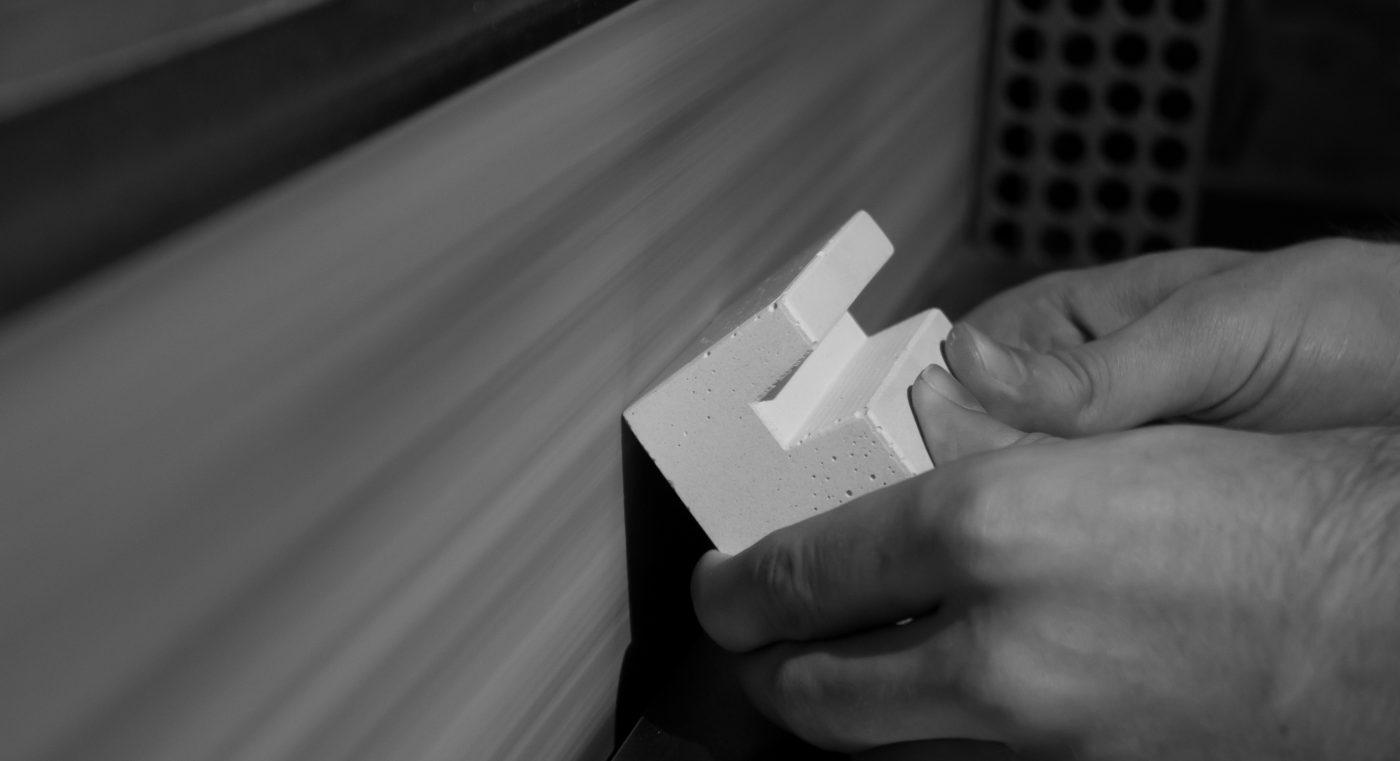 Concrete design object producing process