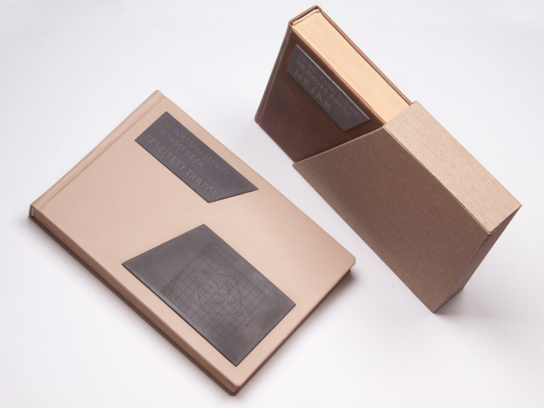 Custom made design gifts for construction studies professors - books with leather and concrete covering