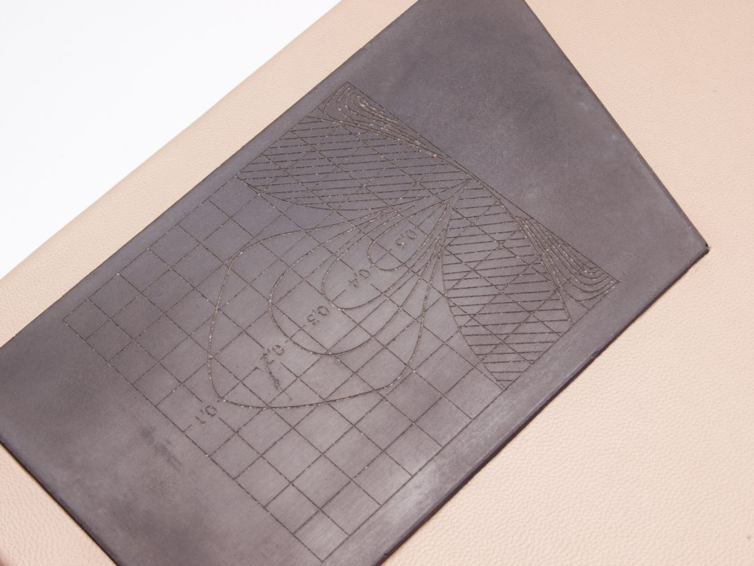 custom made design gift leather and concrete covered book