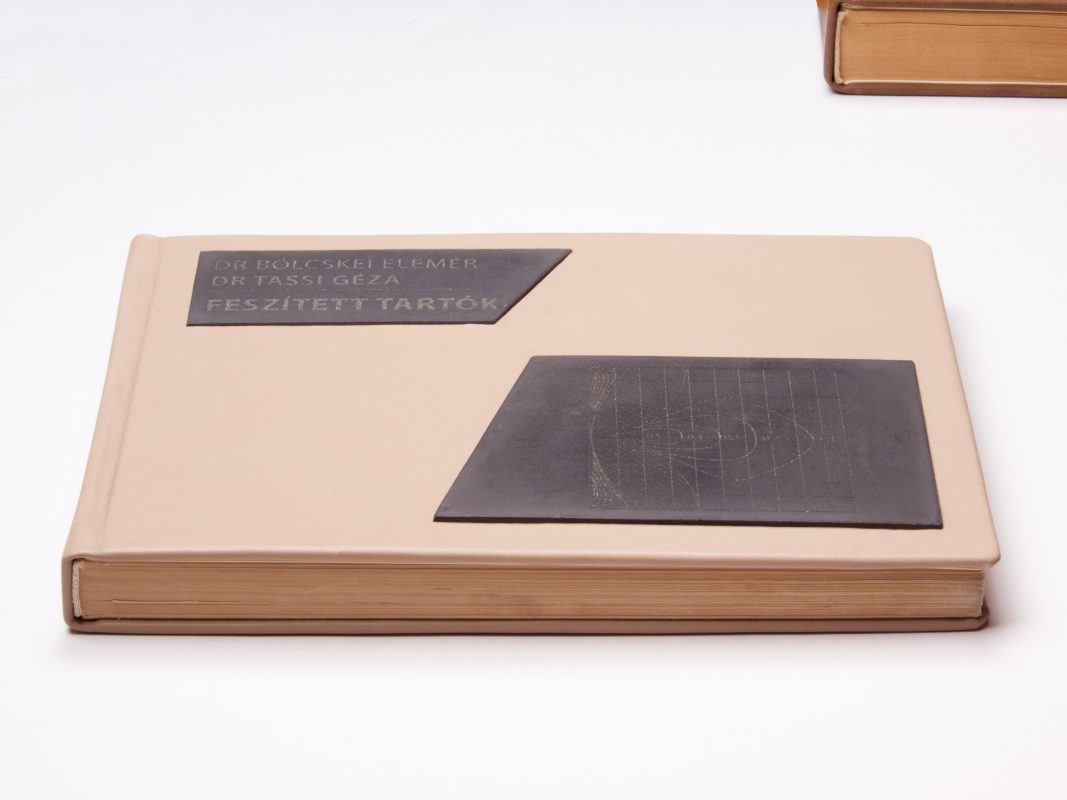 Unique gifts for university professors - custom made design book with engraved concrete