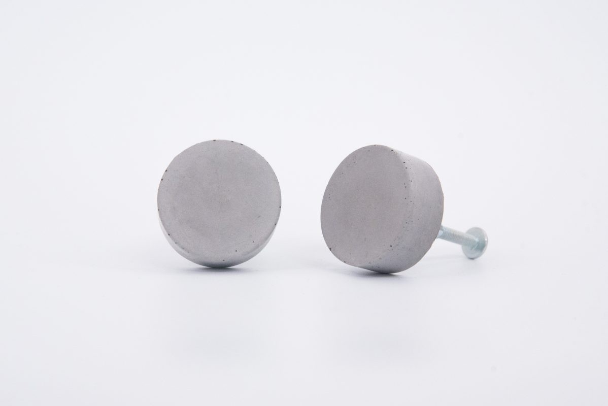Round shaped concrete cabinet knobs fir your Ikea furniture