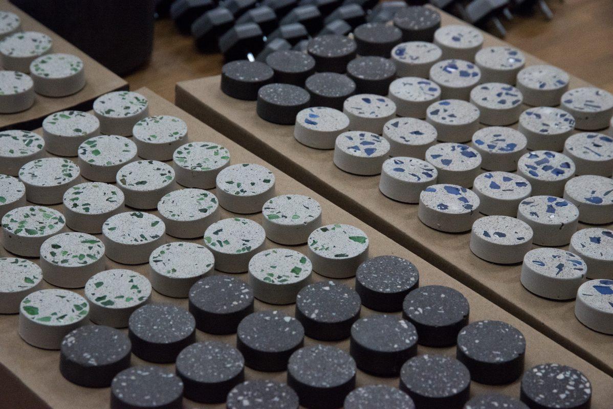 Terrazzo concrete knobs for ikea furnitures