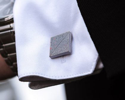 Coolest Cufflinks TERRAZZO Mountain gray-red