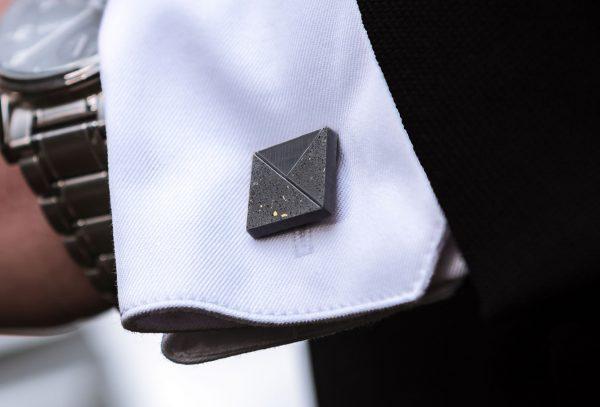 Designer cufflink TERRAZZO-Envelope dark