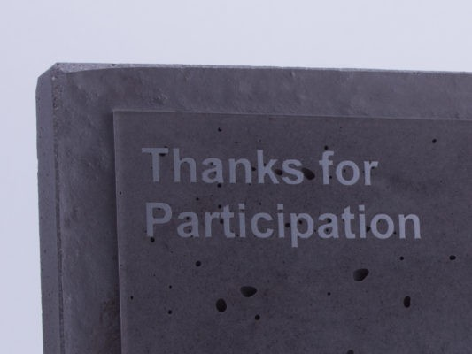 Thanks for participation gift plaque