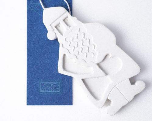 Karácsonyfadísz Télapó betonból a legjobb céges karácsonyi ajándék ötlet