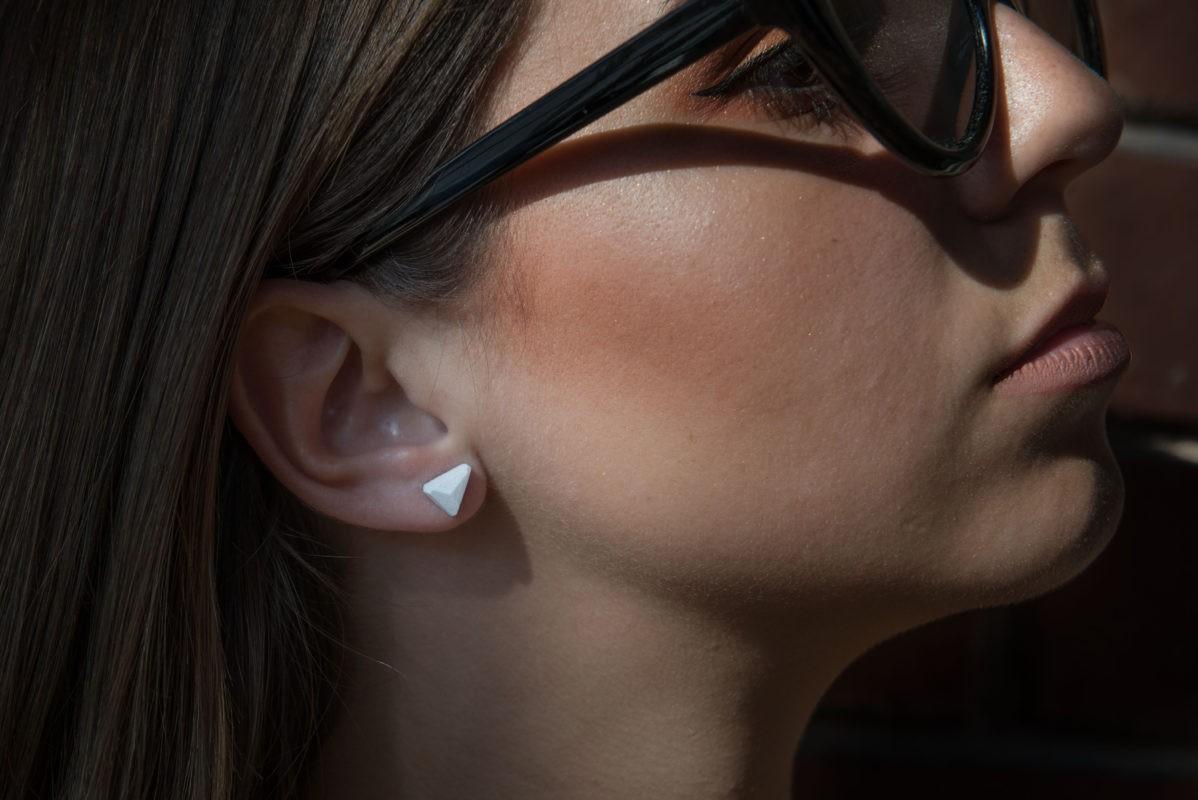 Triangle designer earring