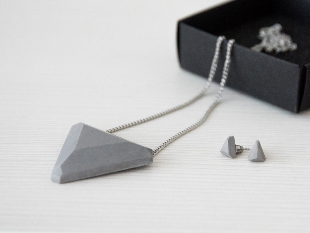 Geometric designer jewelry for business outfit or casual wear