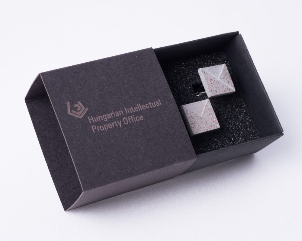 Corporate gift cufflinks with branded giftbox