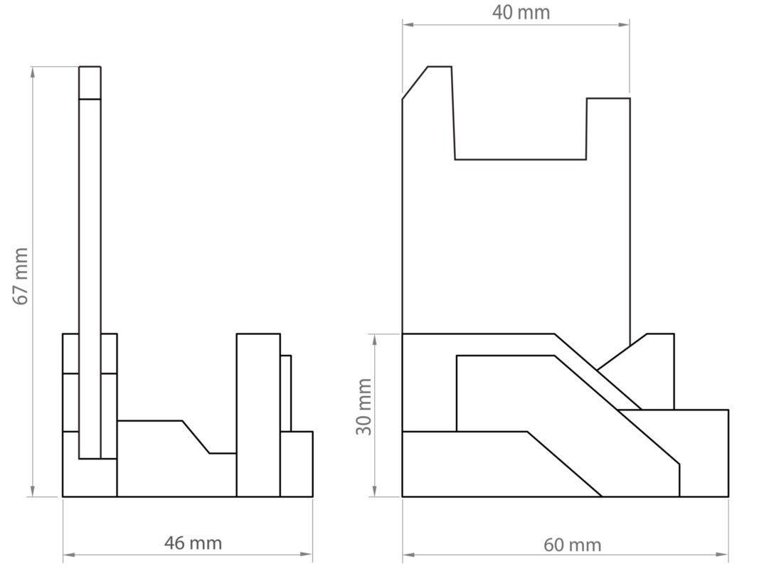 Archicon pen holder measurement