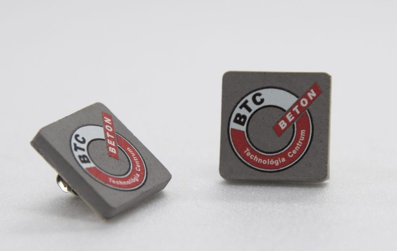 Concrete pin printed for cement-technology company