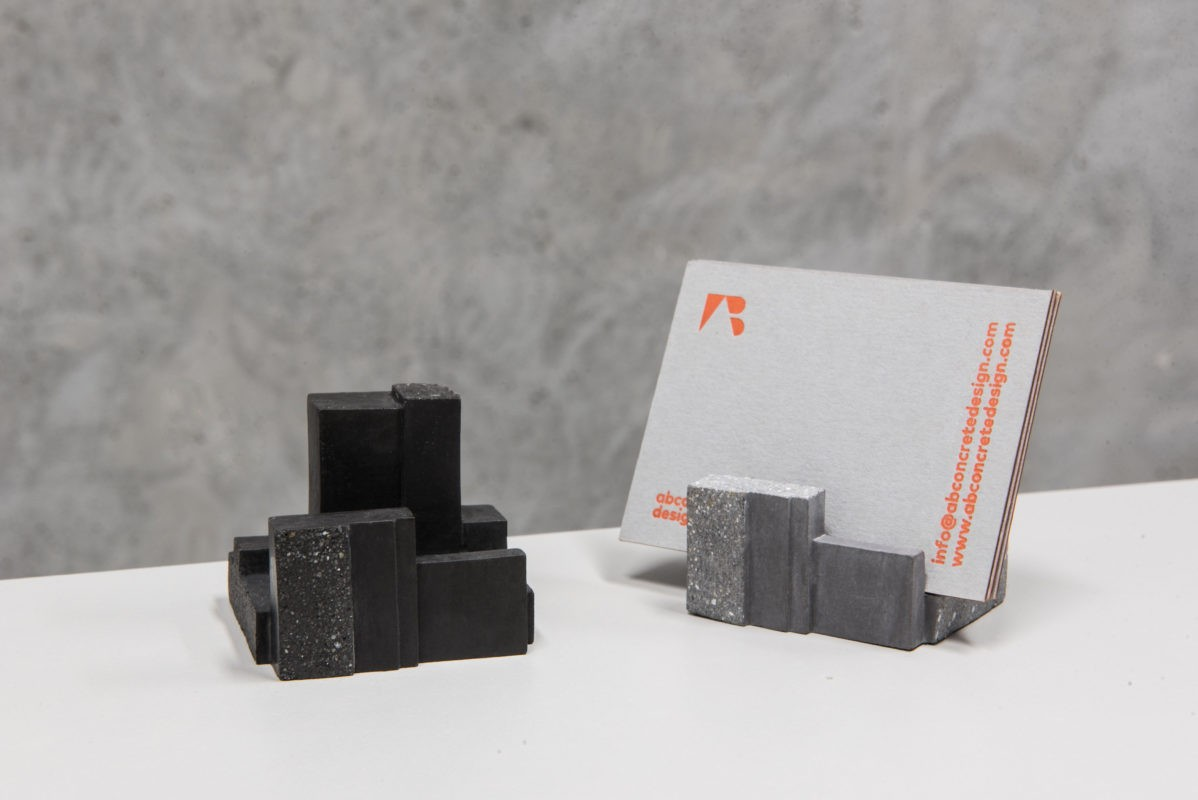 Cool design - busniess card holders made of concrete