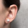 Meteorite shaped concrete earrings