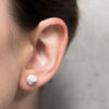 Meteorit formájú poligonális designer fülbevaló
