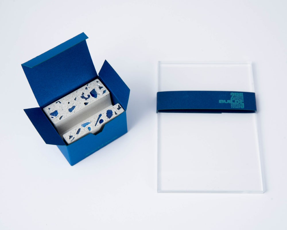 Custom made branded giftbox for concrete business gifts