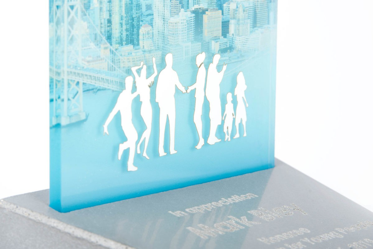 Custom made design concrete trophy for All Stars Project