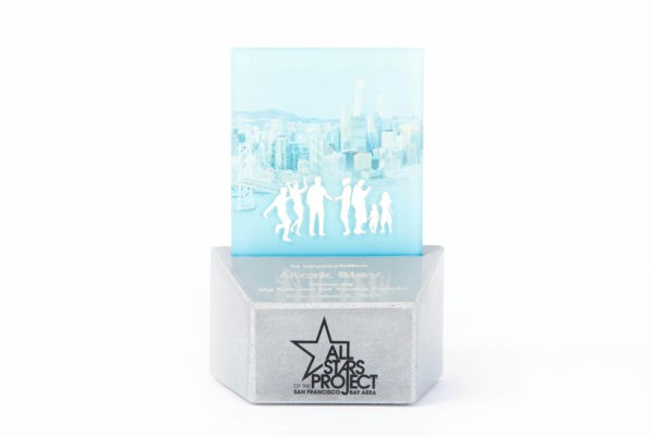 Custom award design made of concrete