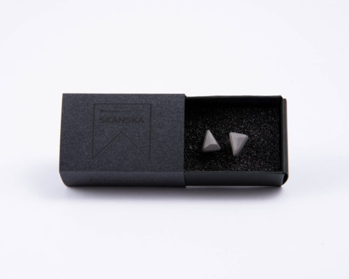 Exclusive designer concrete earrings as corporate gifts