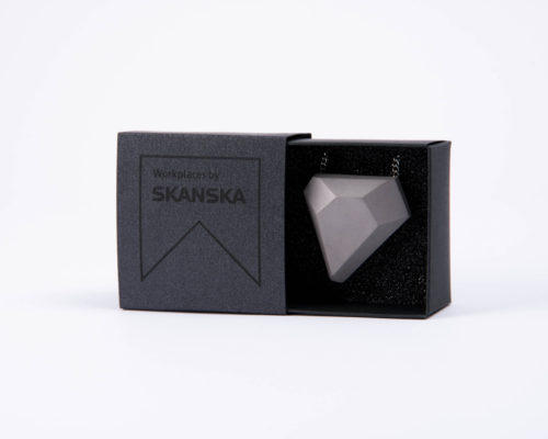 Exclusive concrete business gift for women with elegant packaging