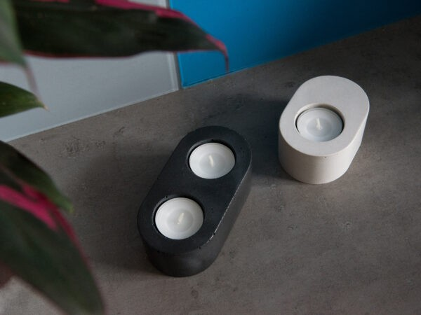 Simple and duo versions for RADIUS concrete tealight holder