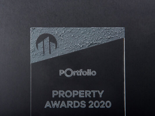 acrylic concrete trophy