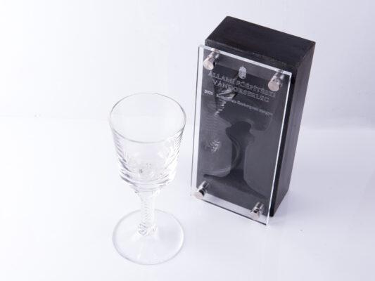 concrete trophy goblet shaped