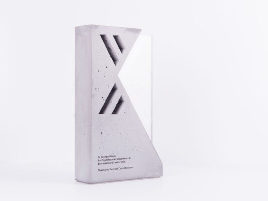 concrete trophy maker studio