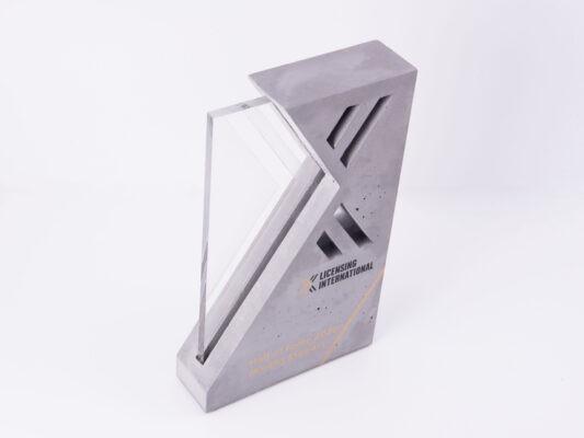 custom made unique concrete award