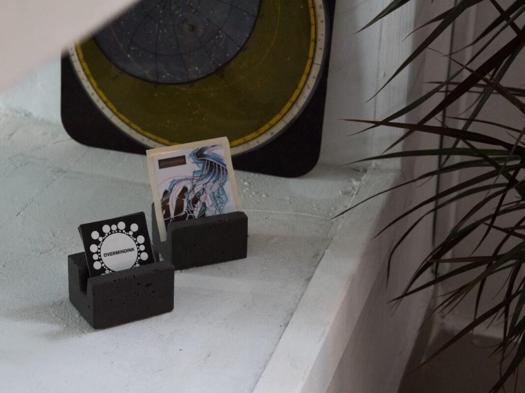 designer concrete flyer holder