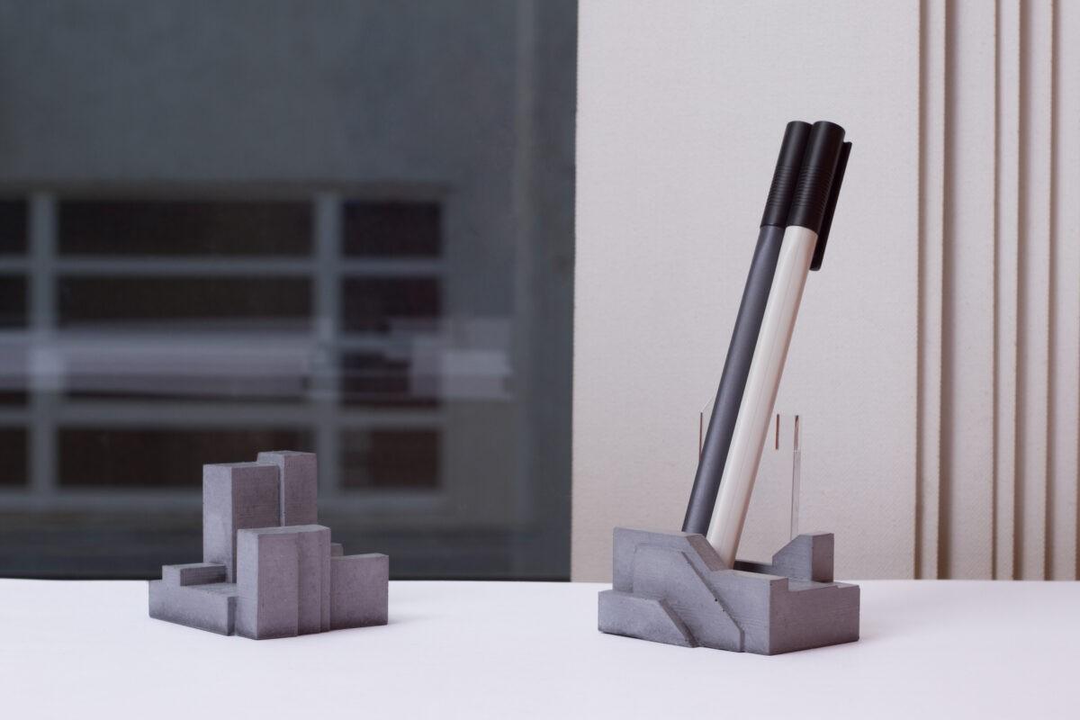 concrete design brutalist office partergift