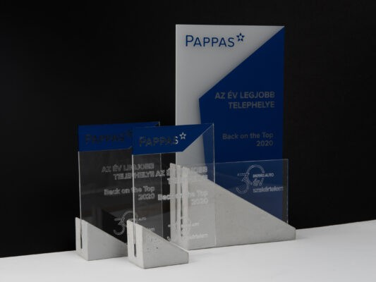 concrete acrylic trophies for best employees