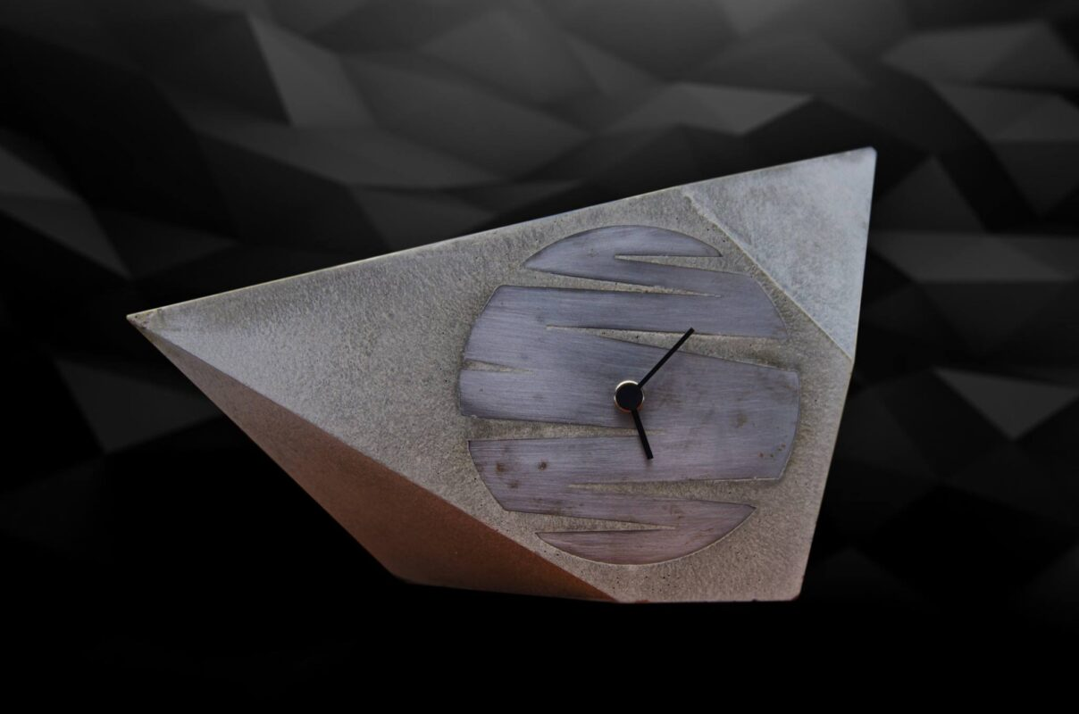concrete design clock