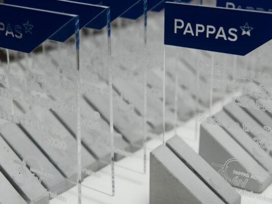 concrete glass trophy for pappas