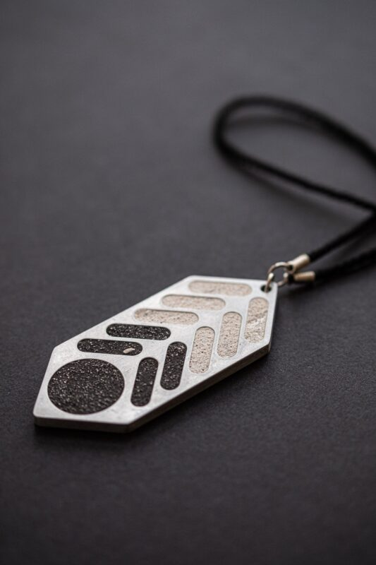 designer necklace made of concrete