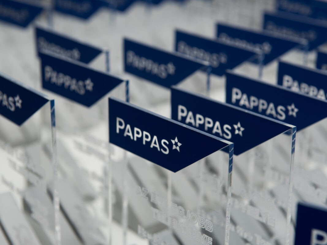 trophies for pappas employees