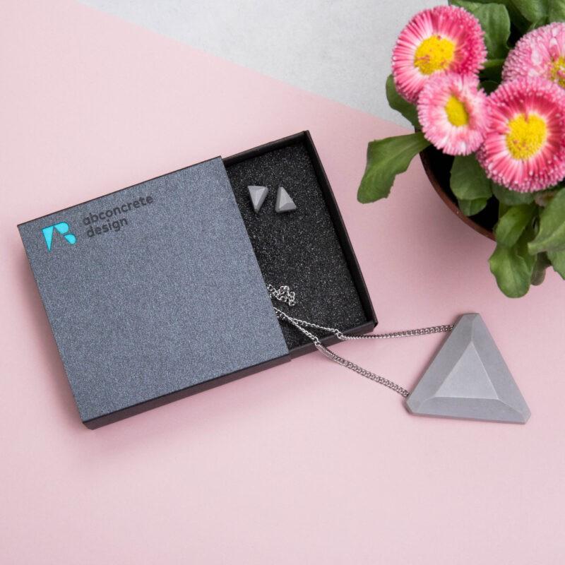 concrete design jewelry gift